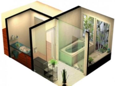 分離された対面室と脱衣室2